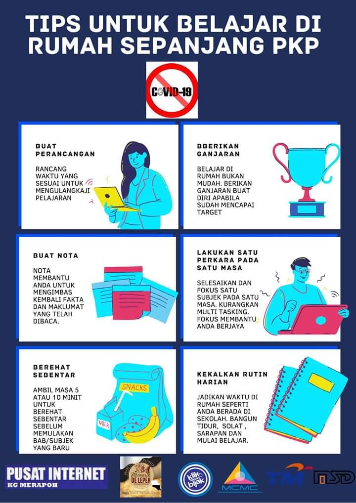 Tips Belajar Di Rumah Sepanjang Tempoh Pkp
